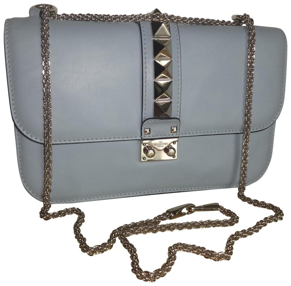 6f3e3e0a14 Valentino Glam Rock Blue Leather Shoulder Bag - Tradesy