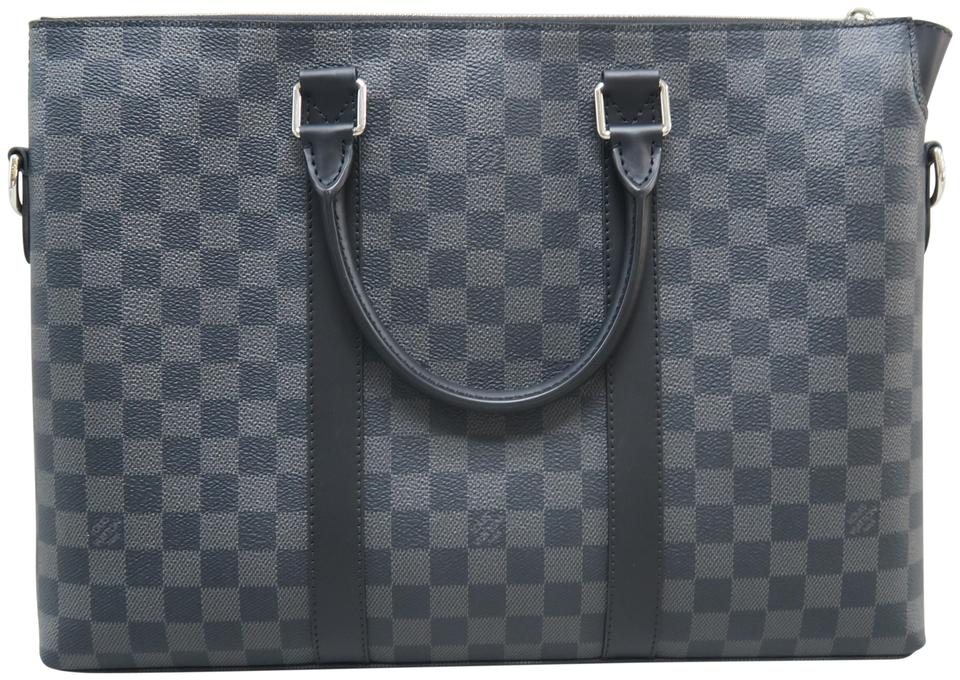 9cd0191ef3 Louis Vuitton Anton 2018 Damier Graphite Briefcase Grey Canvas Satchel