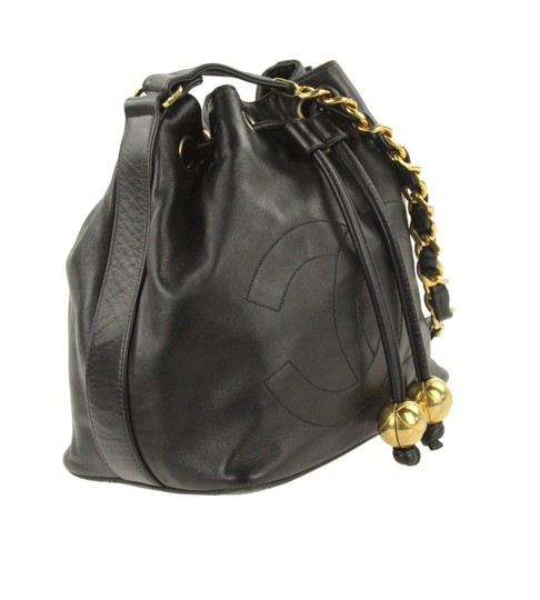 Chanel Vintage Bucket Lambskin Leather Shoulder Bag Image 1