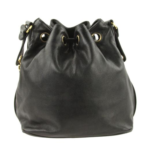 Chanel Vintage Bucket Lambskin Leather Shoulder Bag Image 2