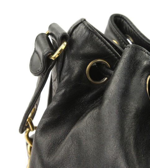 Chanel Vintage Bucket Lambskin Leather Shoulder Bag Image 6