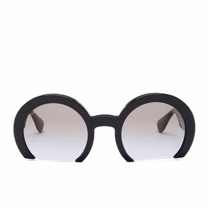 20cc569a83 Miu Miu NEW IN BOX MIU MIU Black Women s Round Flat Bottom Sunglasses
