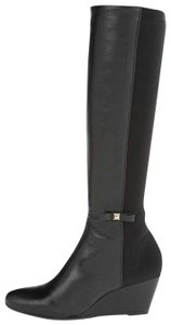 Kate Spade Wedge Leather Black Boots