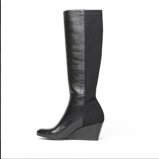 Kate Spade Wedge Leather Black Boots Image 1