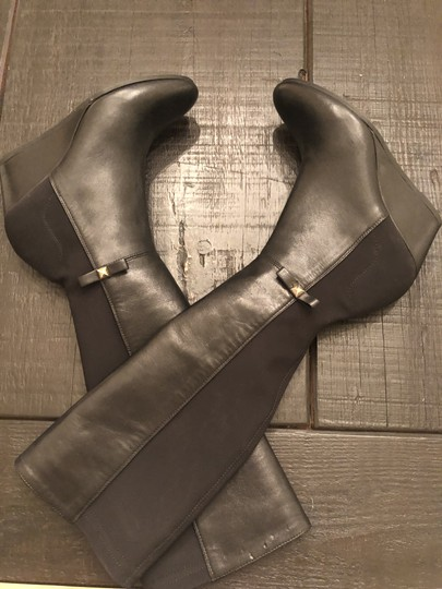 Kate Spade Wedge Leather Black Boots Image 3