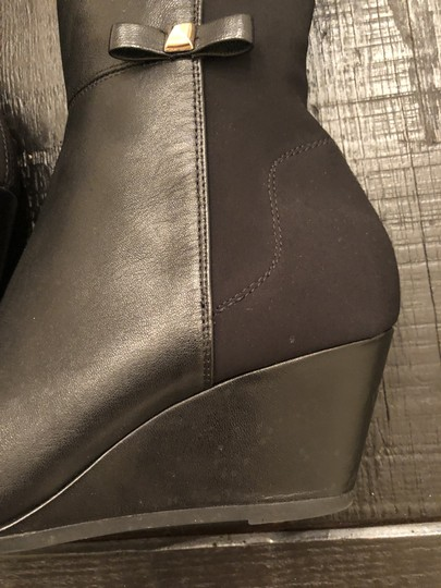 Kate Spade Wedge Leather Black Boots Image 4