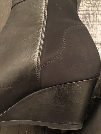 Kate Spade Wedge Leather Black Boots Image 6