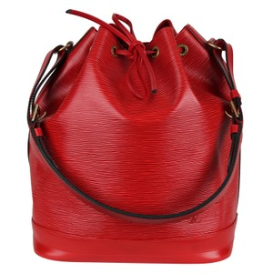 Louis Vuitton Noe Leather Shoulder Bags Epi Leather Tote in Red