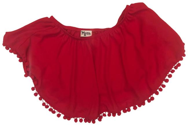 Item - Red Pompom Crop Like New Tank Top/Cami Size 8 (M)