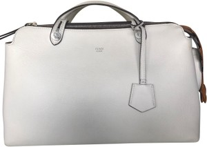 Fendi Satchel in white and brown