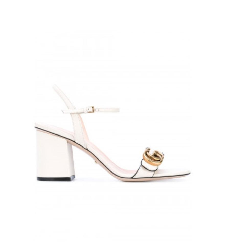 38d7758ca Gucci White New Mid-heel 8.5 Sandals Size EU 38.5 (Approx. US 8.5 ...
