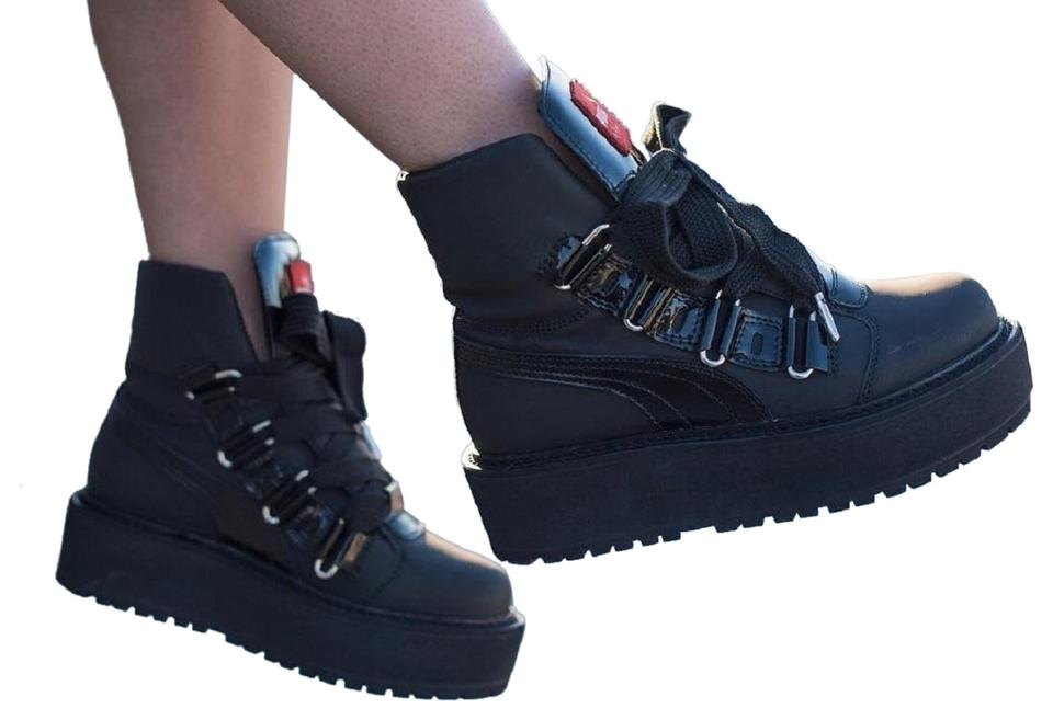 newest collection 469c2 5af6f Black Sneaker Boots/Booties