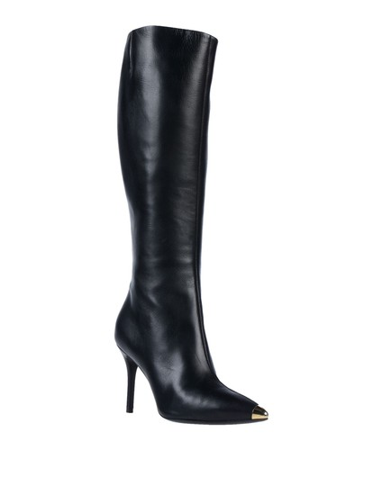 Giuseppe Zanotti Metal Cup Toe Stiletto Knee Height Black Boots Image 0