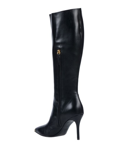 Giuseppe Zanotti Metal Cup Toe Stiletto Knee Height Black Boots Image 1