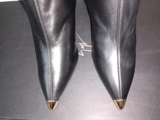 Giuseppe Zanotti Metal Cup Toe Stiletto Knee Height Black Boots Image 11