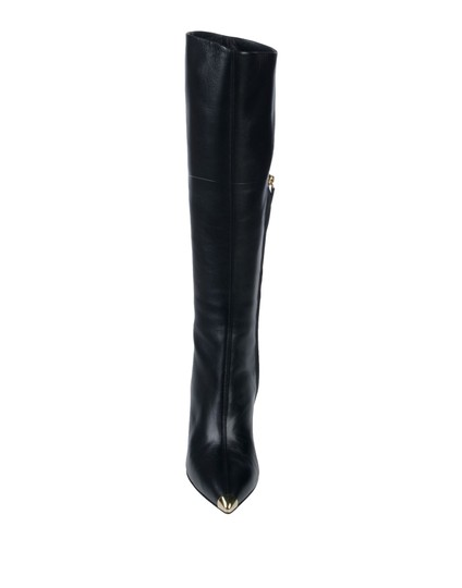 Giuseppe Zanotti Metal Cup Toe Stiletto Knee Height Black Boots Image 2