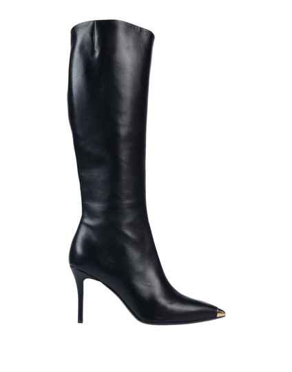 Giuseppe Zanotti Metal Cup Toe Stiletto Knee Height Black Boots Image 3