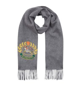 Burberry Burberry Vintage Crest Embroidered Cashmere Scarf