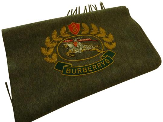 Preload https://img-static.tradesy.com/item/24960988/burberry-gray-vintage-crest-embroidered-cashmere-scarfwrap-0-2-540-540.jpg