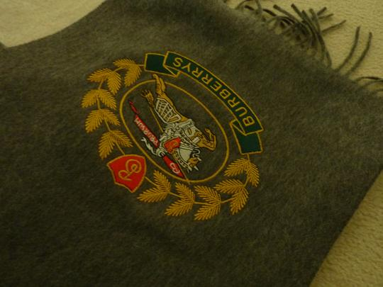 Burberry Burberry Vintage Crest Embroidered Cashmere Scarf Image 2