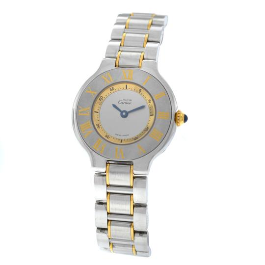 Preload https://img-static.tradesy.com/item/24960998/cartier-gold-silver-ladies-must-de-1340-ref-w10073r6-quartz-steel-watch-0-0-540-540.jpg
