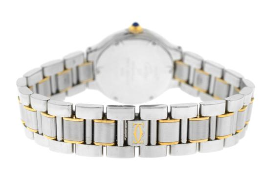 Cartier Ladies Cartier Must de Cartier 1340 Ref. W10073R6 Quartz Steel Gold Image 3