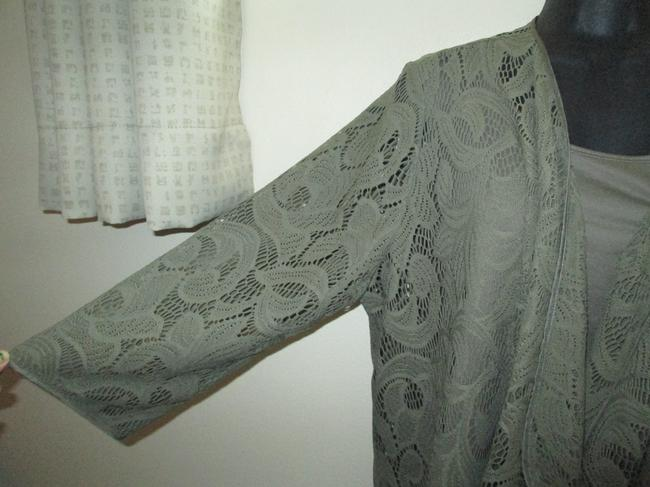 Chico's Army Lace Cascading Spring Fall Top Green Image 5