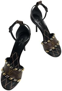 Louis Vuitton Brown and Blacl Sandals