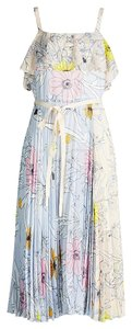 Pink Blue Maxi Dress by Topshop Pastel Pleated Ruffled