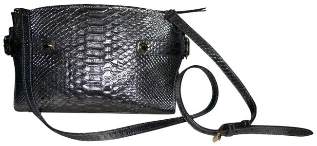 Item - Carlyle Mini Snake Textured Fog Brown Leather Satchel