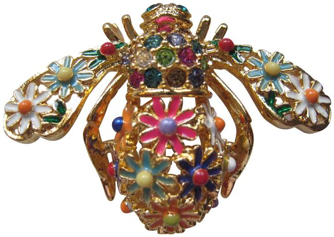 """Item - Multi-colored """"Wild Flower"""" Bee Pin"""