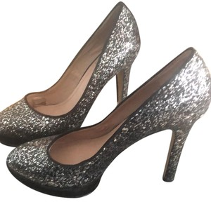 Vince Camuto black and silver Platforms