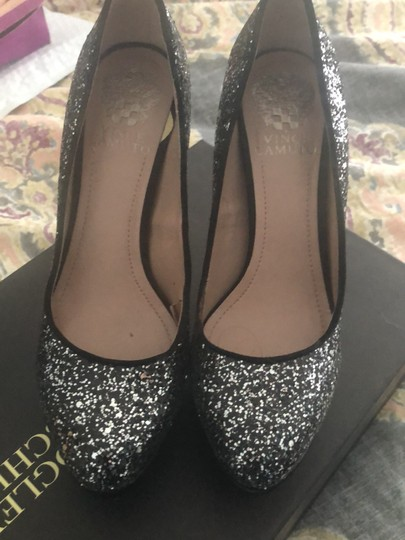 Vince Camuto black and silver Platforms Image 1