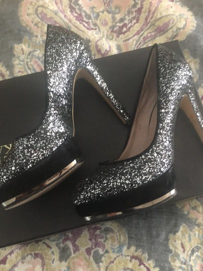Vince Camuto black and silver Platforms Image 2