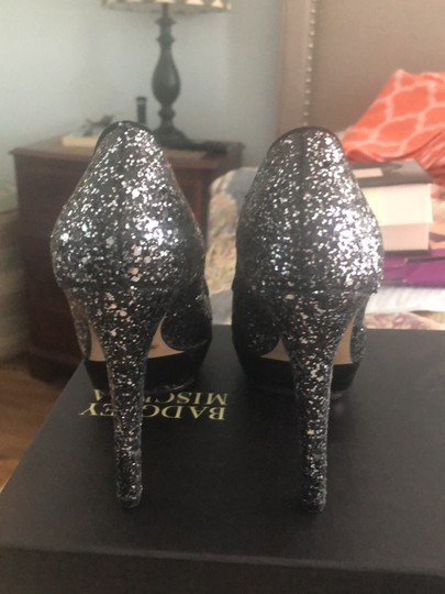 Vince Camuto black and silver Platforms Image 4