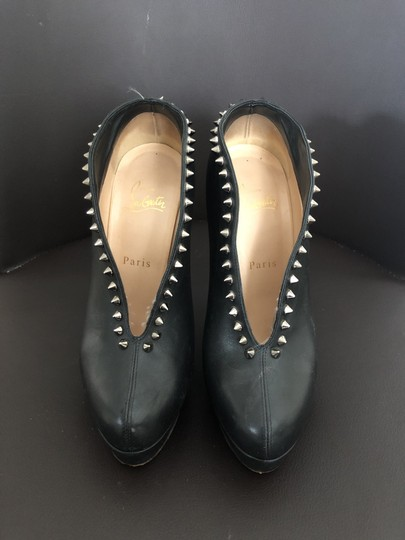 Christian Louboutin Black with Silver Spikes Boots Image 1