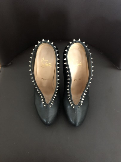 Christian Louboutin Black with Silver Spikes Boots Image 2