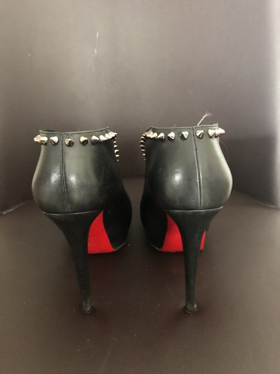 Christian Louboutin Black with Silver Spikes Boots Image 3