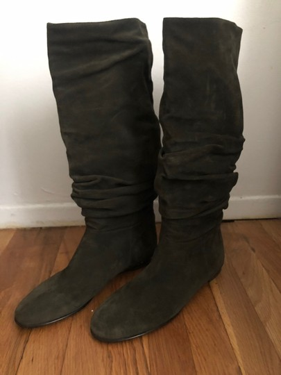 Burberry Olive Green Boots Image 1