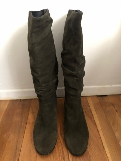 Burberry Olive Green Boots Image 2