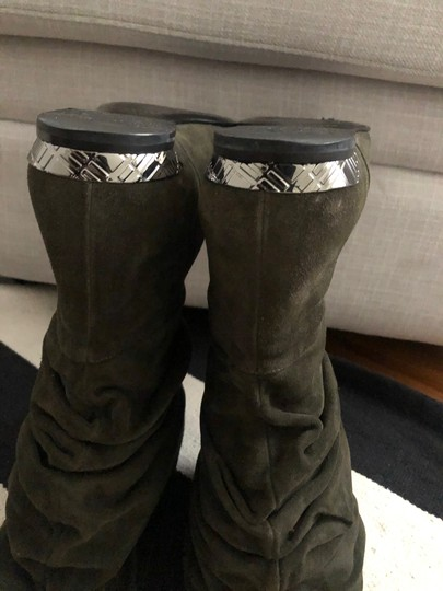 Burberry Olive Green Boots Image 6