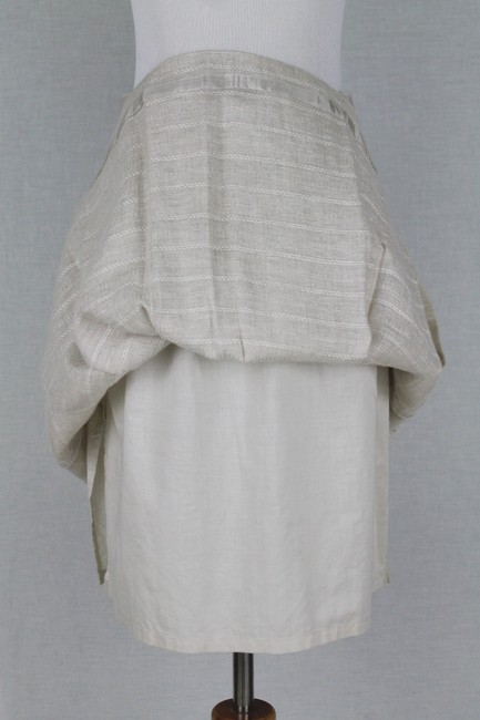 Brooks Brothers Vintage Pleated Irish Linen Linen A-line Skirt Beige Image 5
