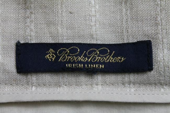 Brooks Brothers Vintage Pleated Irish Linen Linen A-line Skirt Beige Image 9