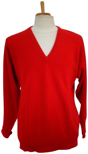 Preload https://img-static.tradesy.com/item/24961662/burberry-london-red-man-s-cashmere-v-neck-sweater-0-1-540-540.jpg