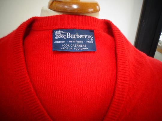 Burberry London Man's 100% Cashmere V-Neck Sweater Image 6