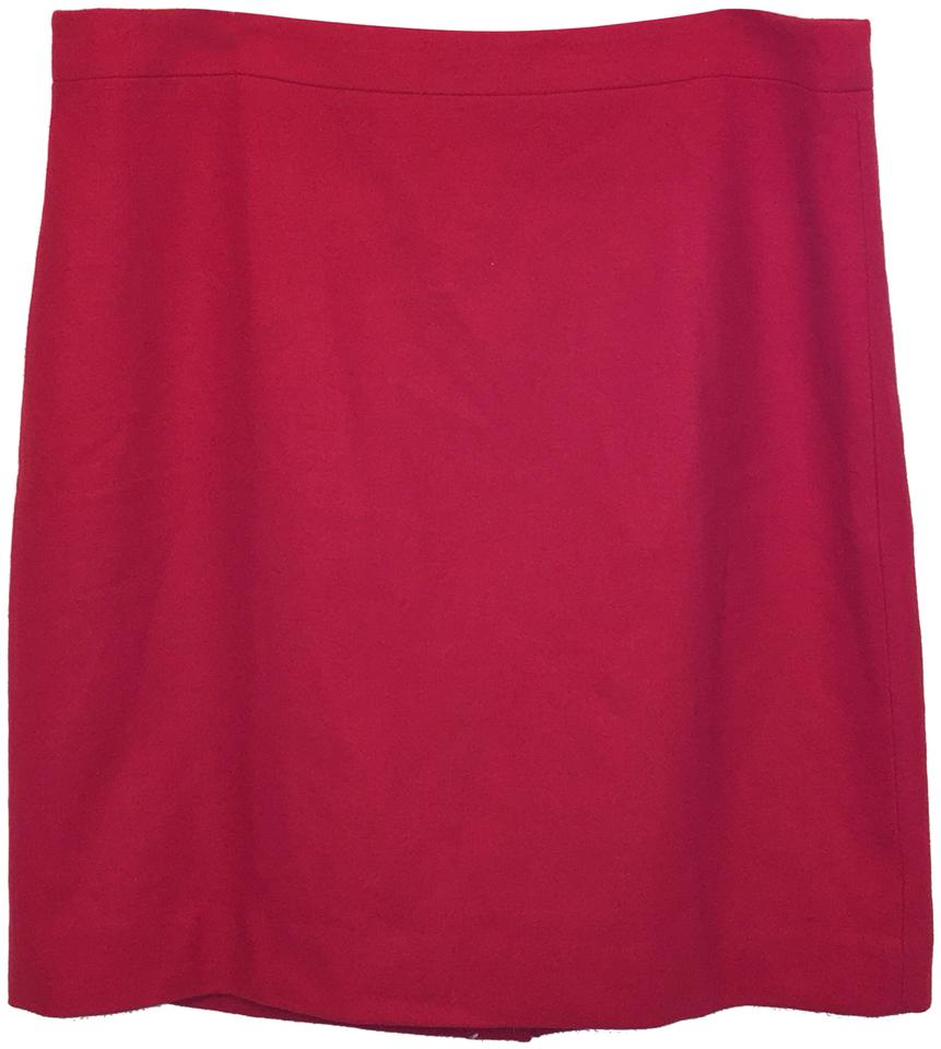 86baba5c7e3 J.Crew Red Nwot Pencil Skirt Size 20 (Plus 1x) - Tradesy