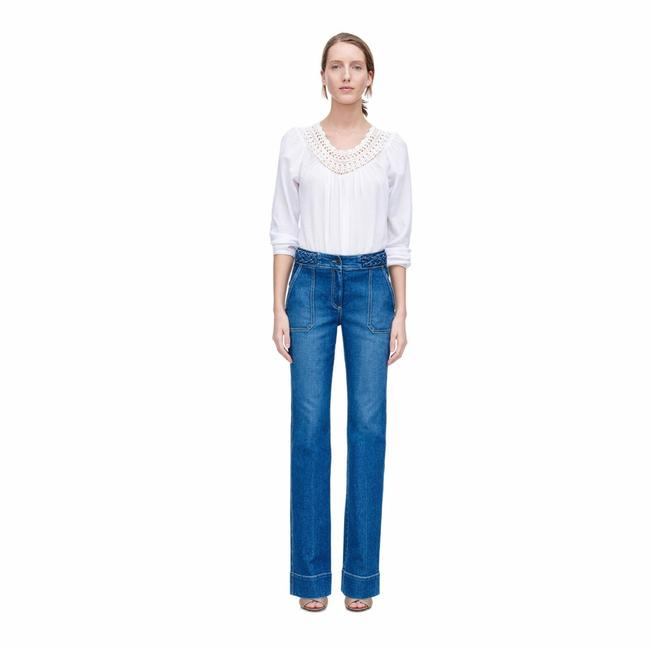 Preload https://img-static.tradesy.com/item/24961749/rebecca-taylor-blue-braided-flare-leg-jeans-size-0-xs-25-0-0-650-650.jpg