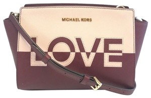 b3f60e42572e Michael Kors Selma Leather Handbag multicolor red pink Messenger Bag