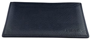 55e63c00949b Prada Prada Baltico Blue Saffiano Men's Leather Wallet Card Holder 2MC208