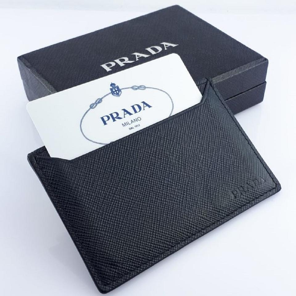 b49335bb819a Prada Prada Baltico Blue Saffiano Men's Leather Wallet Card Holder 2MC208  Image 9. 12345678910